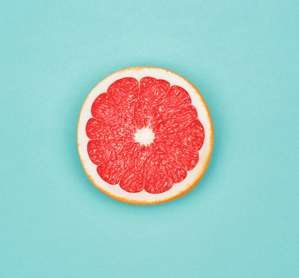 Photo of half a grapefruit