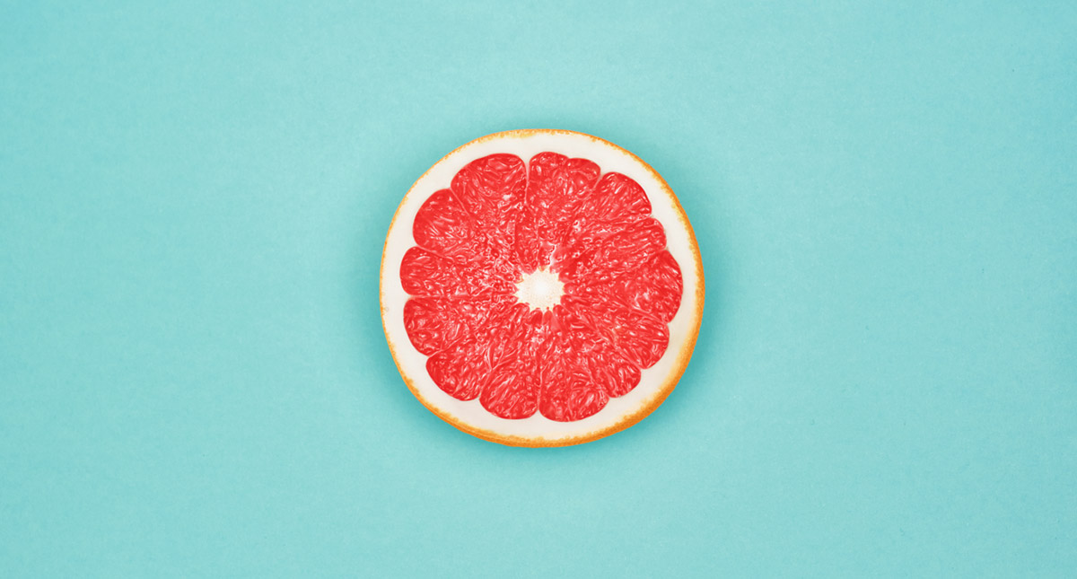 vitamin C in diet - photo of half a grapefruit